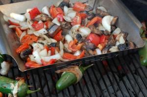 veggies and jalapeños