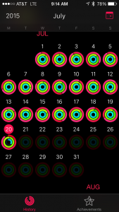 Apple Watch streak